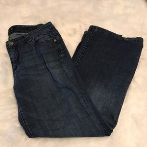 Seven7 dark wash wide leg jeans size 8